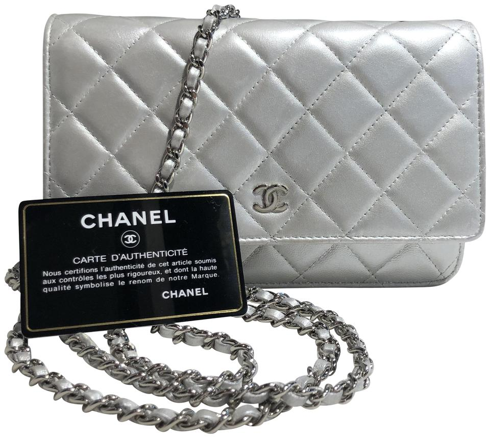 cb90df8d0c44 Chanel Wallet on Chain Classic Flap Clutch Woc Pearlescent Glowing ...