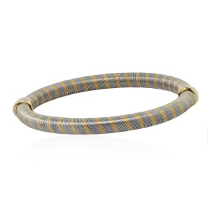 Cartier Cartier 18k Two Tone Ribbed Bangle
