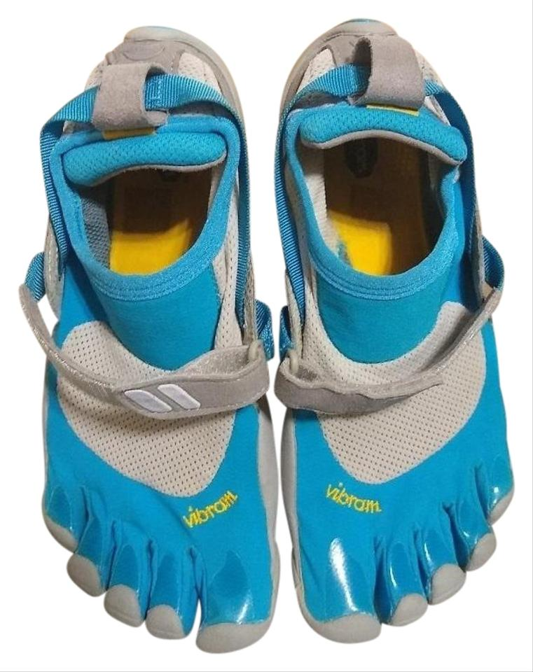 best sneakers 6a126 5bdcf Vibram Blue and White Fivefingers Barefoot Running Five Finger Treksport  Water Sneakers