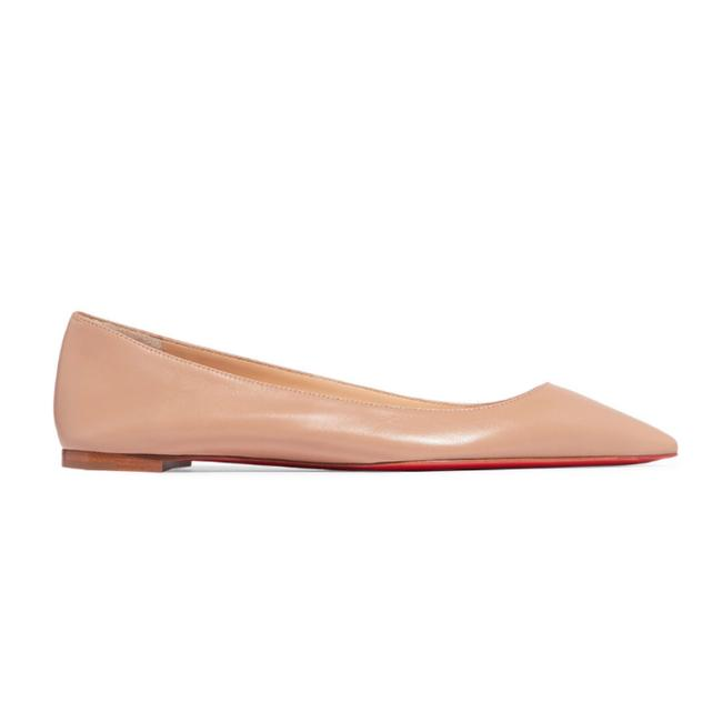 Item - Nude Ballalla Pointy Toe Leather Flats Size EU 36 (Approx. US 6) Regular (M, B)