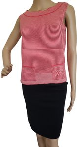 Louis Vuitton Lv Logo Striped Sleeveless Knit Sweater