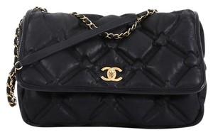 da0c7cb62ee7 Chanel Chesterfield Calfskin Shoulder Bag · Chanel. Classic Flap Chesterfield  Quilted Iridescent Jumbo Black ...