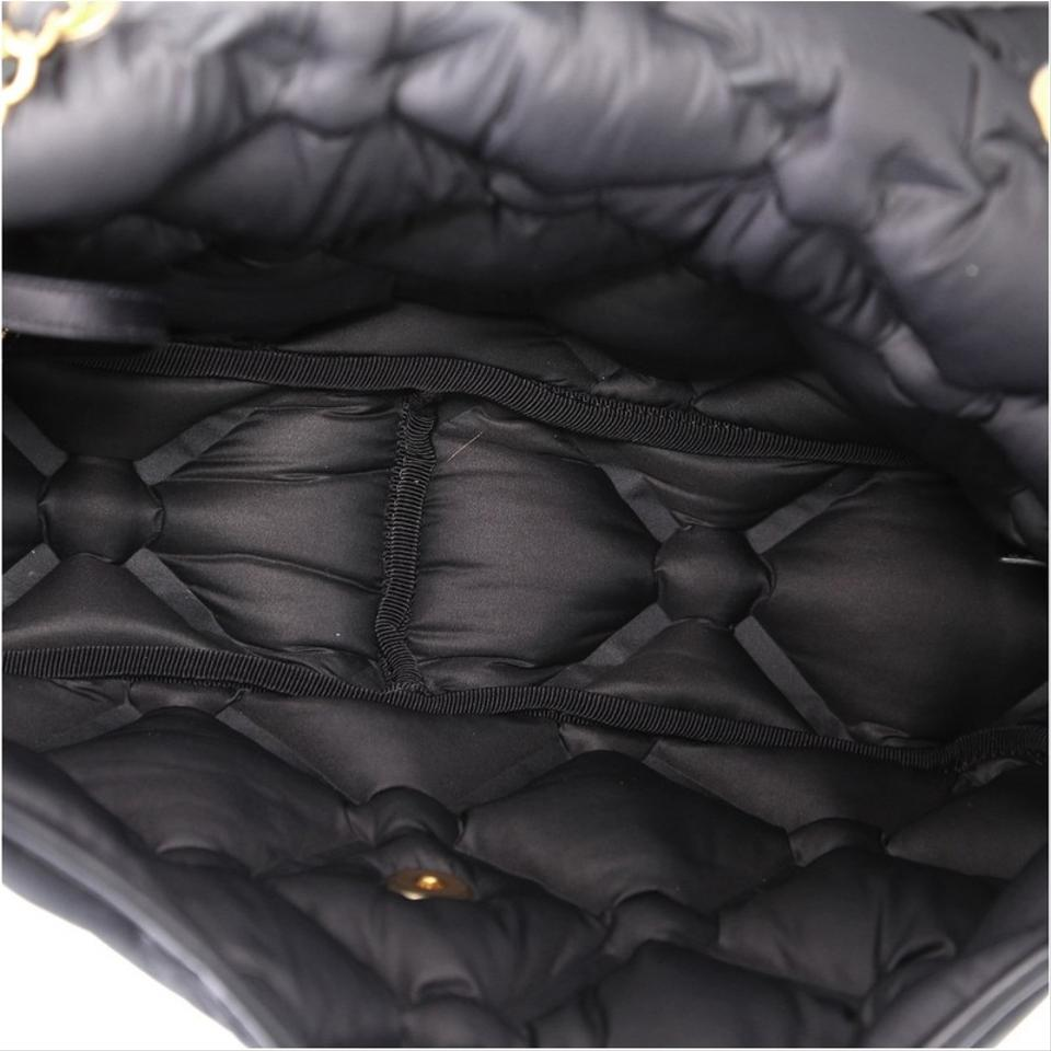 7f56f446df50 Chanel Classic Flap Chesterfield Quilted Iridescent Jumbo Black ...