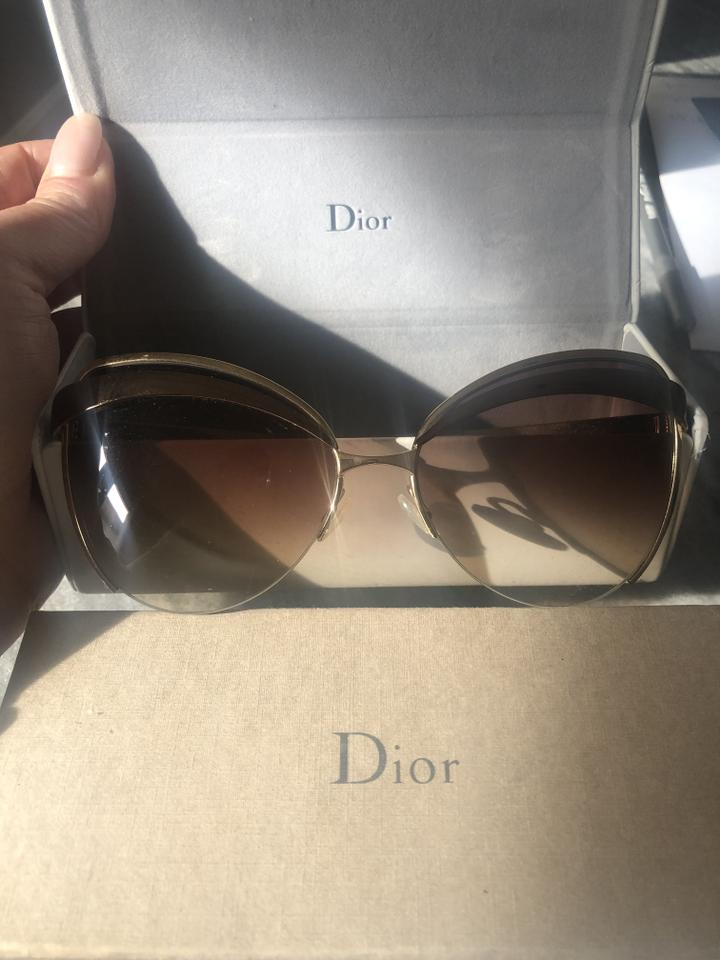e47b5cc609f Dior Brand New Woman s Beautiful Christian Dior Gold Metal Framed Glasses  Image 0 ...