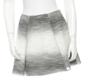 Adam Lippes Mini Skirt Grey, Black, White