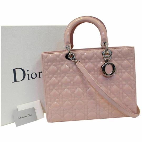Preload https://img-static.tradesy.com/item/25245151/dior-lady-dior-christian-quilted-patent-leather-pin-shoulder-bag-0-0-540-540.jpg
