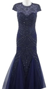 Sherri Hill Beaded Sequin Mermaid Evening Dress