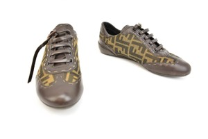 "Fendi Zucca Ff Logo Sneakers Leather ""Zucca"" Brown Athletic"