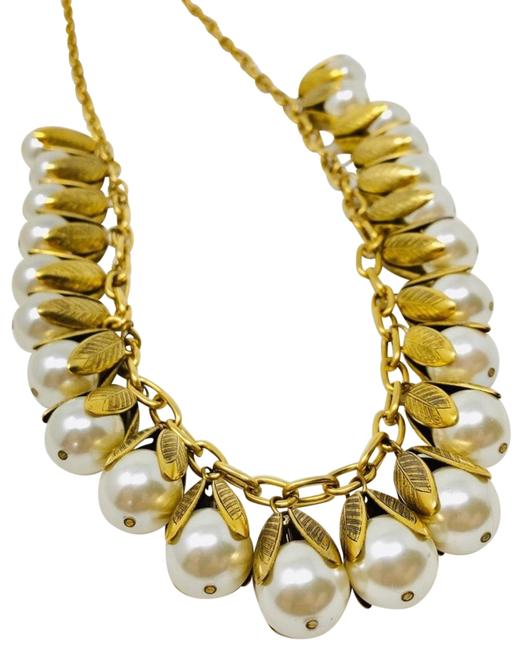 Item - Gold Tone Faux Pearl Statement Necklace