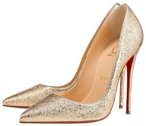 2c7d0d47d3d9 Christian Louboutin Sokate Kate Pigalle Stiletto Leather gold Pumps