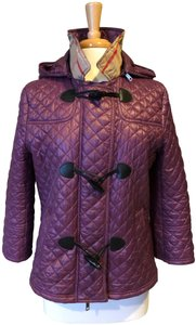 Burberry Puffer Jacket Toggle Quilted Coat