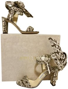 Jimmy Choo Smake New Ankle Grey / White Sandals
