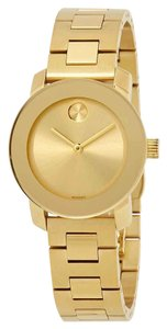Movado Bold Movado Dot Appears Gold Stainless Steel Quartz Round Ladies Watch