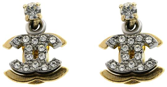 Preload https://img-static.tradesy.com/item/25245826/chanel-yellow-white-plated-vintage-double-cc-drop-logo-crystal-stud-earrings-0-3-540-540.jpg