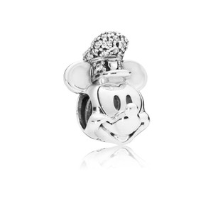 ed6fe0a73 PANDORA Disney, Shimmering Steamboat Willie Portrait Charm, Clear CZ