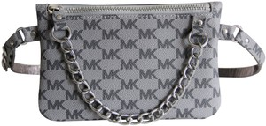 ae0fffb3bcb6 Michael Kors Michael Kors Signature Fanny Pack Belt Bag Size Medium Grey