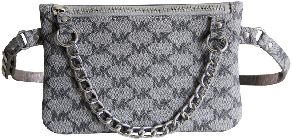 615a7ea12bdb7d Michael Kors Michael Kors Signature Fanny Pack Belt Bag Size Medium Grey  Image 0 ...