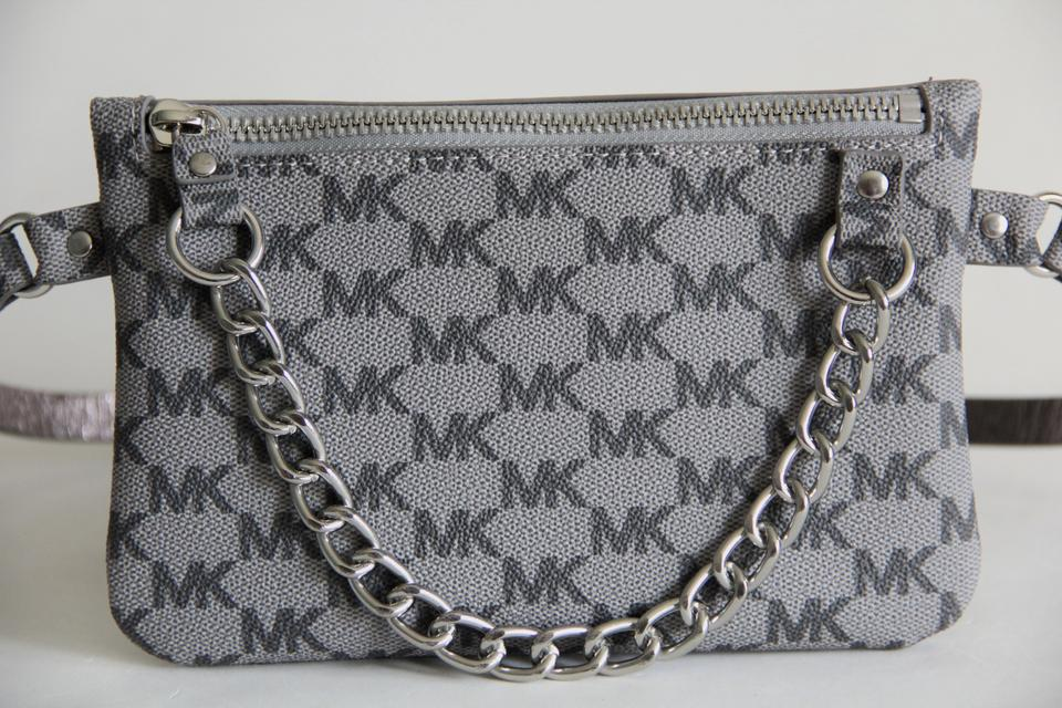17d9a9a8a605 Michael Kors Grey Signature Fanny Pack Bag Size Large Belt - Tradesy