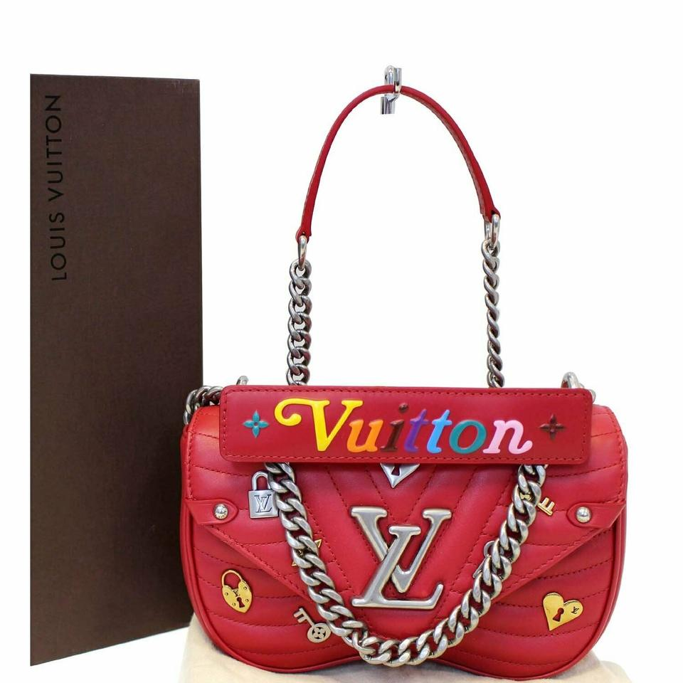 4d45a8b45e45 Louis Vuitton Lockmeto Love Lock New Wave Pm Chain Shoulder Bag ...