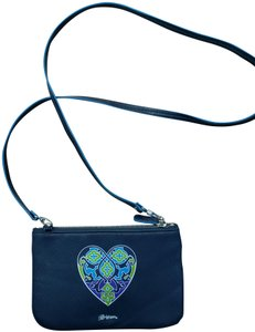 Brighton Leather Heart Cross Body Bag