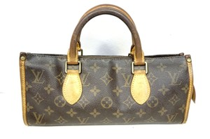 Louis Vuitton Lv Monogram Handbag Popincourt Leather Tote in brown