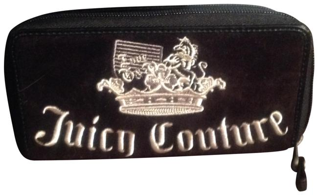 Juicy Couture Black Cream Embroidered Lettering Ysru1258 Wallet Juicy Couture Black Cream Embroidered Lettering Ysru1258 Wallet Image 1