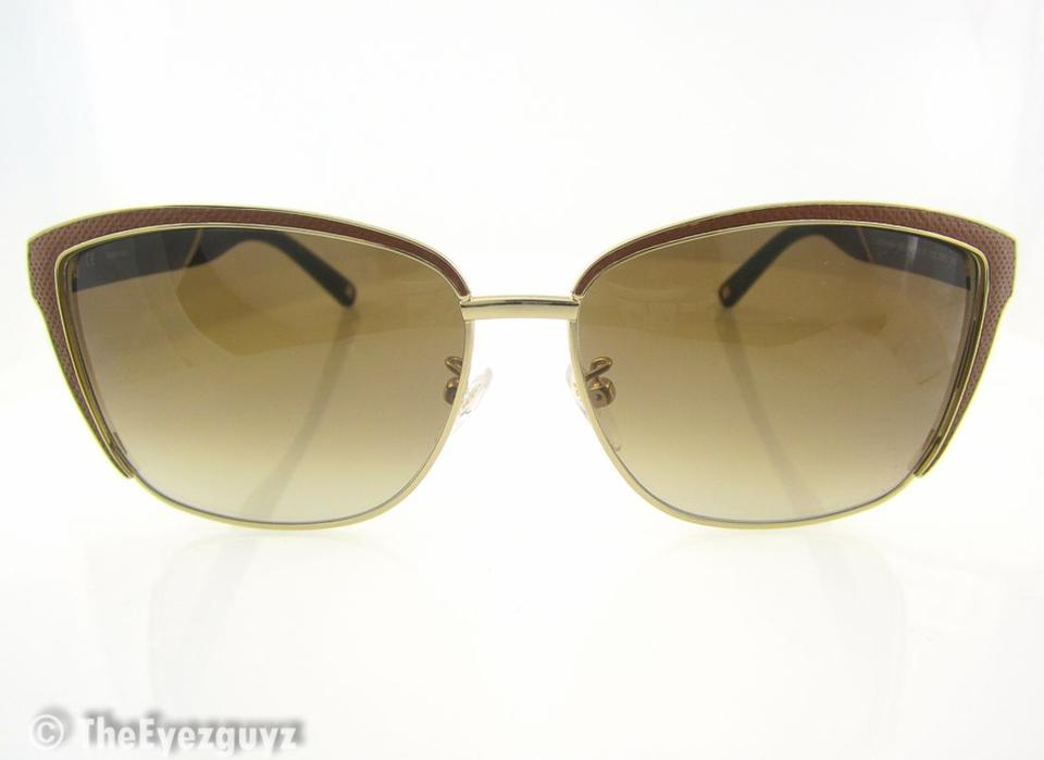 29a92bd256108 Escada EE SES 833 V rare iconic brown leather wayfarer   cat eye polarized  Image 7. 12345678