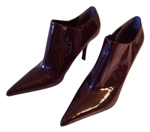 Nine West Fall Shooties Burgundy Patent Leather Boots