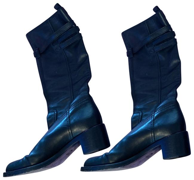 Item - Black Belted Knee High Boots/Booties Size US 8.5 Narrow (Aa, N)