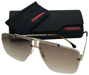 44945887d251 Carrera Rimless CARRERA Sunglasses 1016/S J5G86 64-11 145 Gold Aviator w/