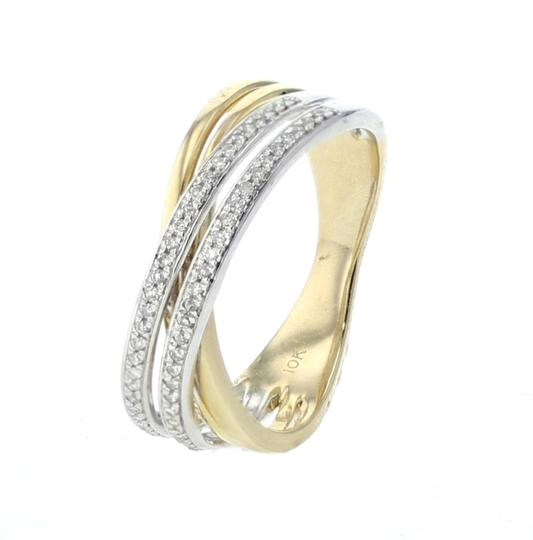 Preload https://img-static.tradesy.com/item/25246933/yellow-white-gold-criss-cross-10k-two-tone-6mm-wide-02ctw-diamon-engagement-ring-0-0-540-540.jpg
