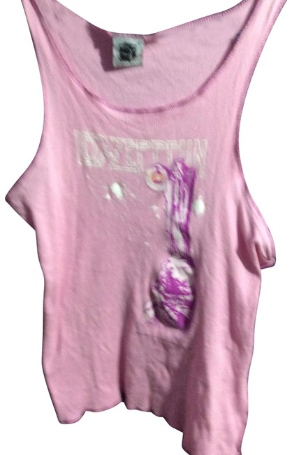 Mandee Pink Led Zeppelin Tank Top/Cami Size 12 (L) Mandee Pink Led Zeppelin Tank Top/Cami Size 12 (L) Image 1