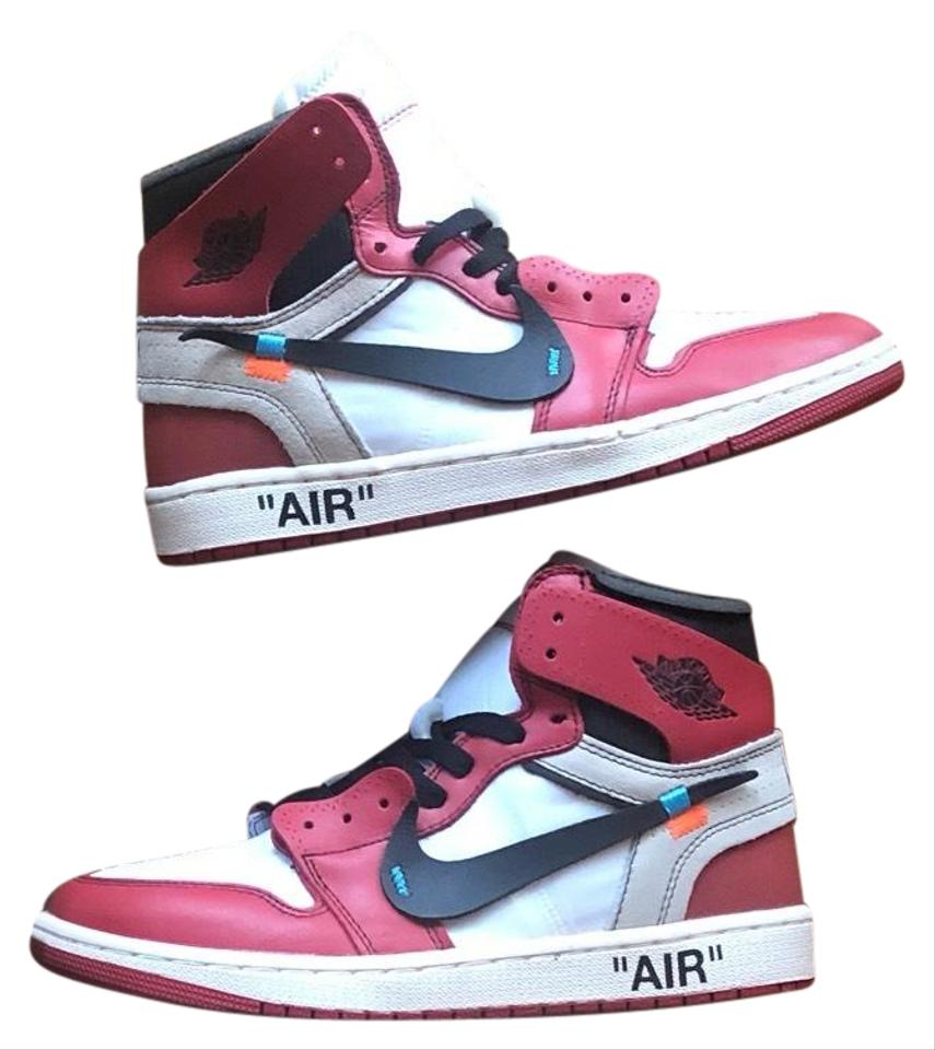 1268e920e7c648 Off-White™ Black and Red Jordan 1 Off White Chicago Sneakers Size US ...