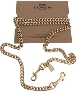 "Coach Coach Gold 46"" Shoulder Crossbody Curb Bag Chain Replacement Strap New"