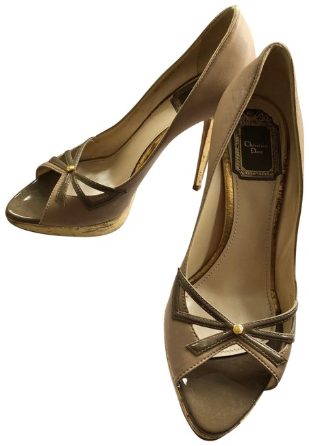 Item - Multi Gold Purple Lolita Peep Toe Pumps Size EU 37 (Approx. US 7) Regular (M, B)