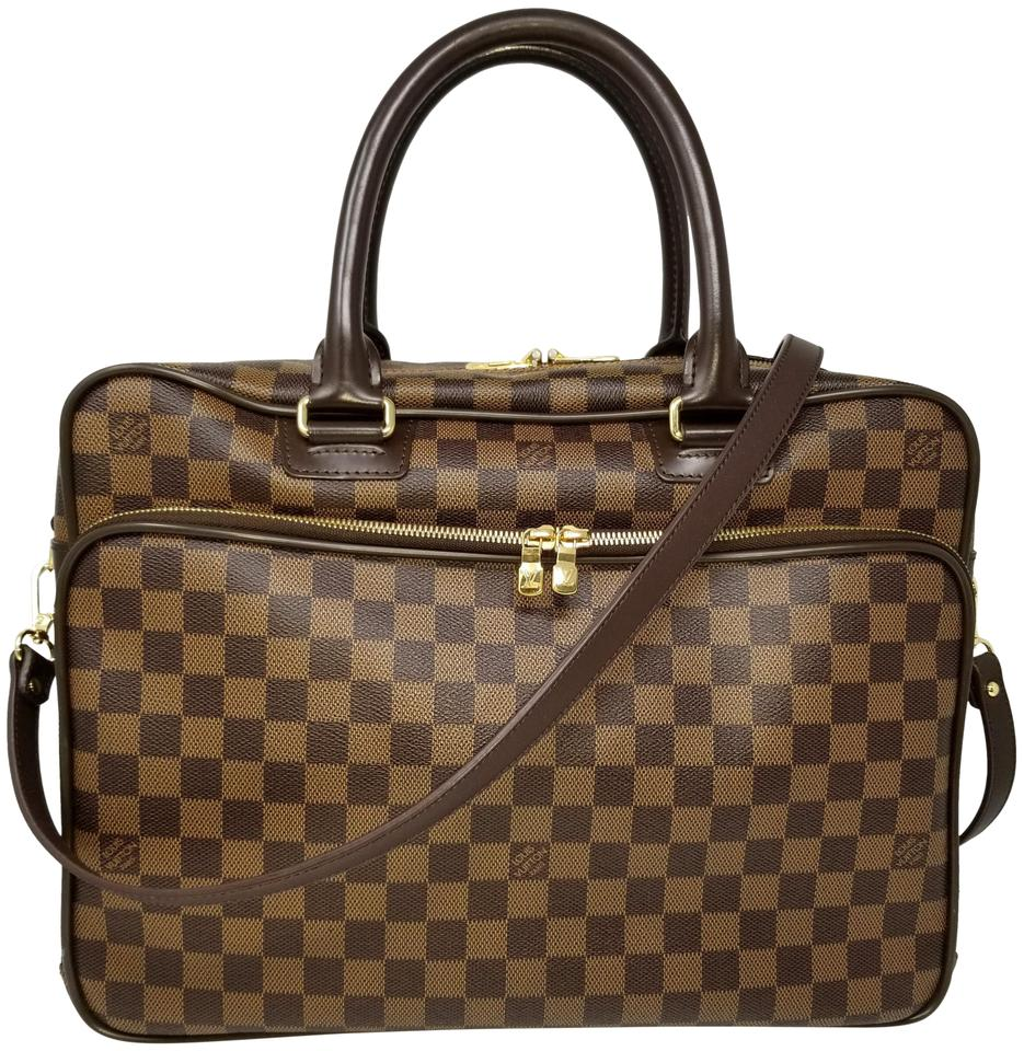 c4b94b6f Louis Vuitton Icare Damier Ebene Briefcase Attache Brown Coated Canvas  Laptop Bag 34% off retail