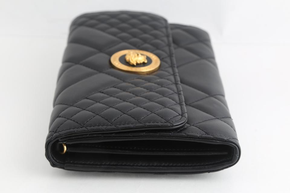 72c3e19a7d Versace Evening Quilted Icon Black Leather Cross Body Bag 20% off retail