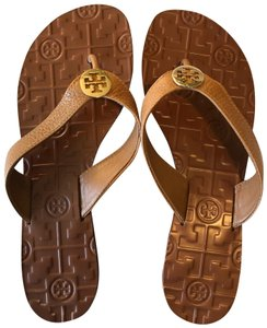 45211f16b667 Tory Burch Brown Miller Veg Leather Sandals Size US 7 Regular (M