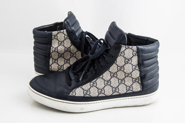 Gucci Blue Gg Supreme High-top Sneaker Shoes Gucci Blue Gg Supreme High-top Sneaker Shoes Image 1
