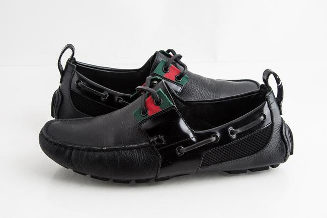 Gucci Black Up with Signature Web Shoes Gucci Black Up with Signature Web Shoes Image 1