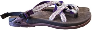 Chaco Black/Purple/Teal Sandals