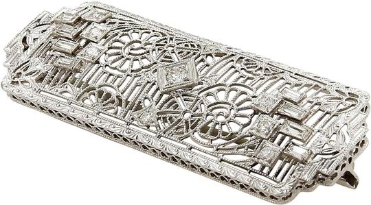 Preload https://img-static.tradesy.com/item/25247303/modern-vintage-18259-art-deco-diamonds-platinum-and-14k-white-gold-filigree-pin-brooch-0-1-540-540.jpg