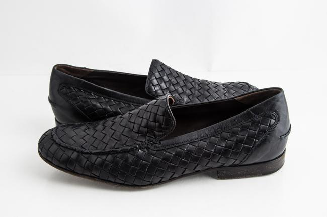 Item - Black Woven Loafers Shoes
