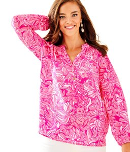 Lilly Pulitzer Top Pink Pawsitive