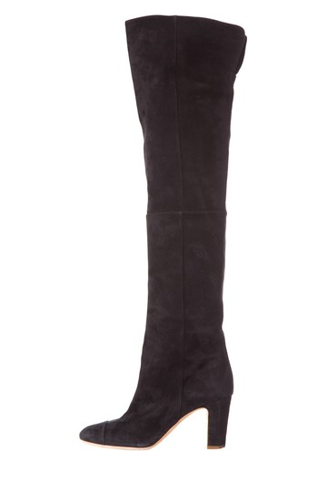Preload https://img-static.tradesy.com/item/25247430/chanel-black-suede-over-the-knee-bootsbooties-size-eu-38-approx-us-8-regular-m-b-0-0-540-540.jpg