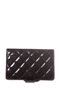 68c4d8ea3503 Chanel Chanel Black Patent French Purse Wallet