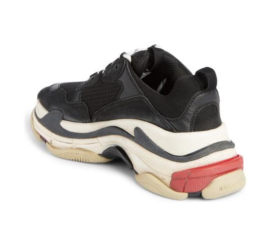 Balenciaga Vintage Style Fashion black/white/red Athletic Image 1