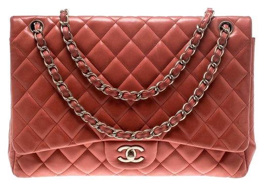 f4d2bb822edc Chanel Classic Flap Quilted Maxi Classic Single Red Leather Shoulder ...