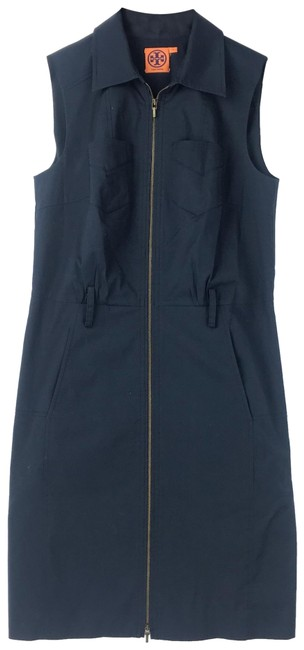 Preload https://img-static.tradesy.com/item/25248000/tory-burch-navy-blue-mid-length-short-casual-dress-size-2-xs-0-1-650-650.jpg