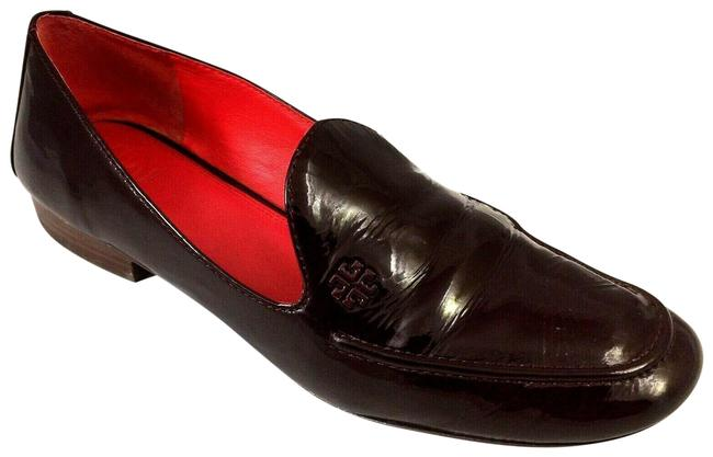 Tory Burch Red Dominique Burgundy Patent Leather Loafer Smoking Flats Size US 10 Regular (M, B) Tory Burch Red Dominique Burgundy Patent Leather Loafer Smoking Flats Size US 10 Regular (M, B) Image 1